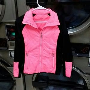 ck jacket size small  coral colored
